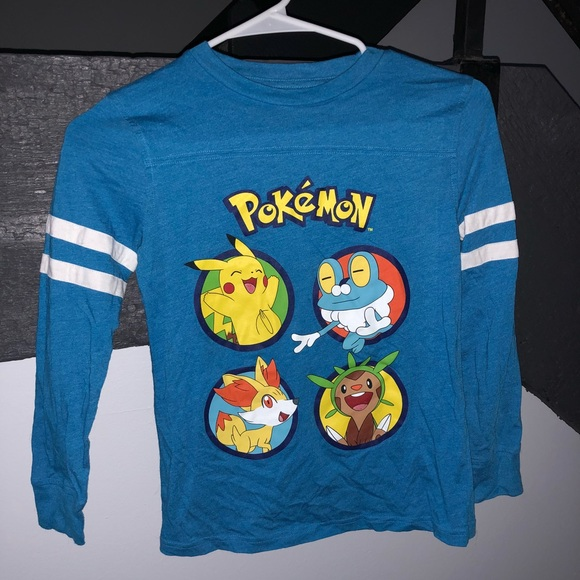 f94a6b770 Pokemon Shirts & Tops | Blue Long Sleeve Pokmon Shirt | Poshmark